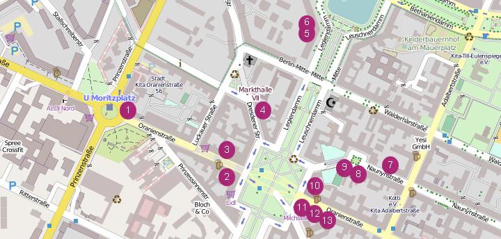 Mitwirkende - Karte © OpenStreetMap